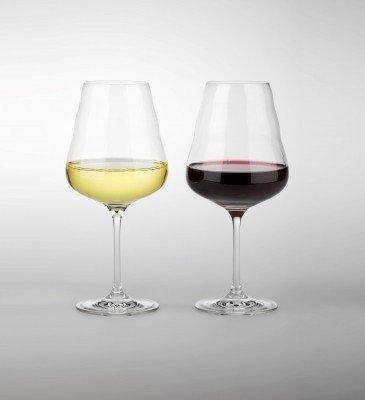 Vitaal wijnglas met bloem des levens